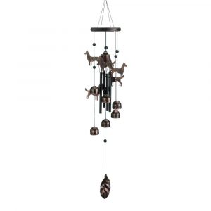 "26"" bronze Dogs Wind Chime"