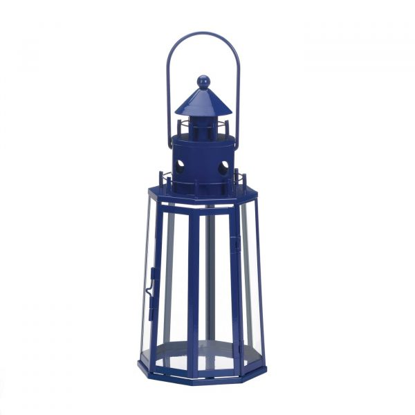 Blue Lighthouse Lantern