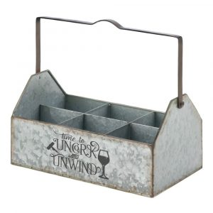 Galvanized Metal Wine Caddy